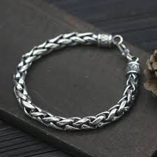 silver chain bracelet men images Men 39 s sterling silver bold rope chain bracelet men 39 s silver jpg