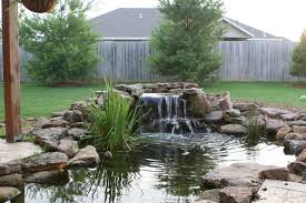 backyard koi pond and waterfall home furniture