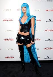 blue wig spirit halloween nina agdal photos stars on halloween 2015 spookiest celebrity
