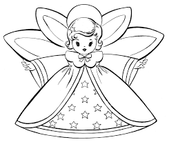 free christmas angel art for kids coloring pages retro s the