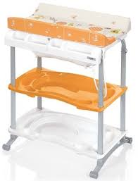 Changing Table With Bath Tub Brevi Babido Changing Table And Bath Tub Orange Br595 011
