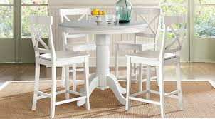Dining Room Table Counter Height Brynwood White 5 Pc Counter Height Dining Set Dining Room Sets White
