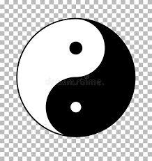 yin yang on transparent background yin yang sign stock vector