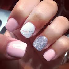 Baby Nail Art Design 50 Lovely Pink And White Nail Art Designs Silver Shorts Short