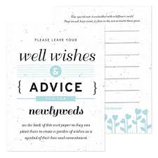 wedding well wishes well wishes advice cards