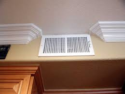 terminating crown moulding at a vent