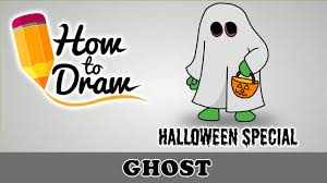 how to draw a halloween ghost halloween special easy drawing