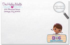 doc mcstuffin u0027s birthday invitation envelope di 248env