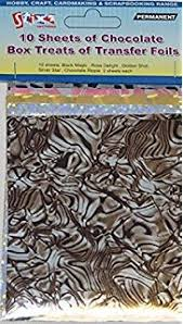 stripes chocolate transfer sheets amazon co uk grocery