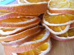 everyday dried orange ornaments