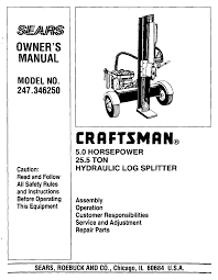 craftsman log splitter 247 34625 user guide manualsonline com