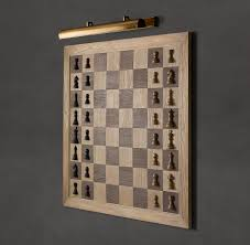coolest chess sets giant wall mounted vertical chess set the green head