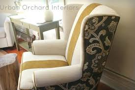 wing chair slipcover pattern blue wing recliner slipcover