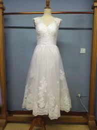 wedding dress trim aliexpress com buy tea length wedding dres with appliques