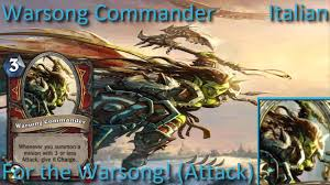 warsong commander card sounds in 12 languages hearthstone