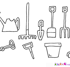 Gardening Tools Colouring Pages Garden Coloring Pages For Kids Tools Coloring Page