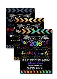 rainbow graduation invite glow in the dark grad party ideas