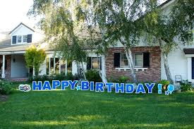 Birthday Lawn Decorations Yard Greetings For All Events And Celebrations Yard Cards Yard