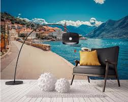popular fishing wall murals buy cheap fishing wall murals lots 3d room wallpaper custom mural european seaside town port fishing boat painting photo 3d wall murals