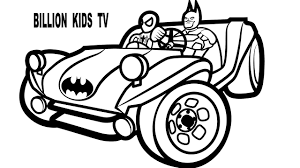 colors buggy superheroes spiderman batman coloring pages