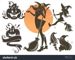 happy halloween vector happy halloween symbols withes pumpkins bats stock vector