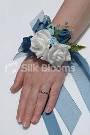 teal corsage white wedding wrist corsage w teal aqua mini