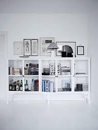 modern minimalist white bookcase design a white carousel