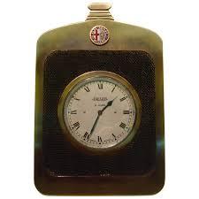 alfa romeo classic car radiator desk clock jaeger 1920s for sale