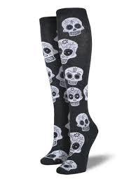 shop s big muertos skull knee high socks socksmith