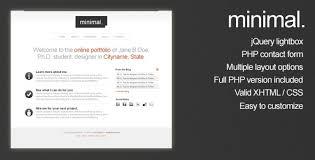 minimal html portfolio site template by cudazi themeforest