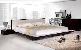 modern minimalist bed on floor design with low profile bed also