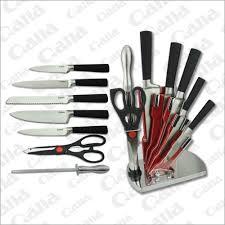qana 8pcs stainless steel knife set spray painting knife set