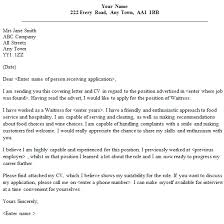 waitressing cover letter waitressing cover letter 42 with additional exles of