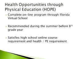 online pe class high school sawgrass springs middle school program for academically