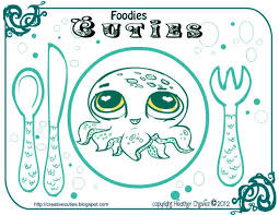 creative cuties printable place mat coloring page octopus