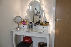 Tabletop Vanity Mirror With Lights Furniture Mirrored Desk Target Makeup Table Walmart Vanity