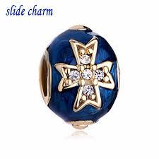 cross bracelet charm images Slide charm wholesale free shipping blue celtic cross bracelet jpg