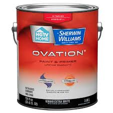 shop hgtv home by sherwin williams ovation white eggshell latex