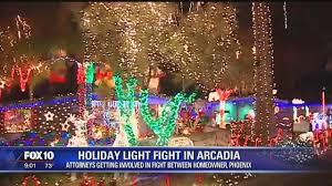 christmas lights in phoenix 2017 holiday lights dispute in arcadia heats up story ksaz