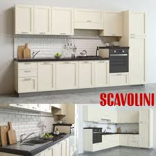 scavolini colony kitchen 2 shapes 3d cgtrader