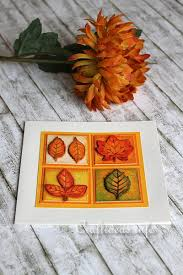 autumn card craft autumn leaves birthday card