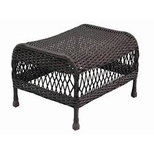 Garden Treasures Patio Chairs Shop Garden Treasures Glenlee Brown Wicker Ottoman At Lowes Com