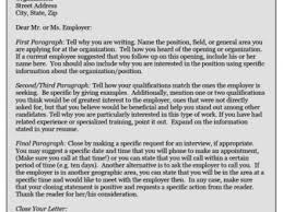 sample cover letter part time job create a cover letter for a job