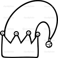 elf hat clipart black and white clipartxtras