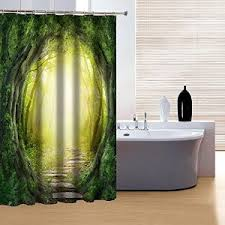Amazon Com Shower Curtains - amazon com beddinginn mysterious fairytale forest trail print 3d