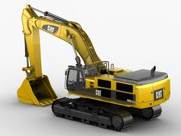 excavator caterpillar cat 390d 3d model in machines3dexport