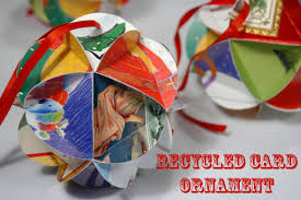 recycled christmas card crafts christmas lights decoration