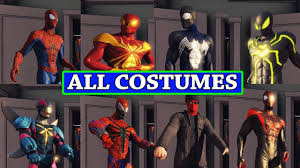 the amazing spider man 2 all costumes dlc youtube