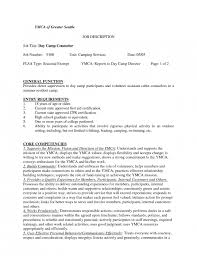 Tutor Job Description For Resume by Summer Camp Counselor With Campers Cover Letter For Summer Camp