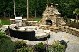Outdoor Electric Fireplace Pre Built Outdoor Fireplaces Garden Design With Outdoor Electric
